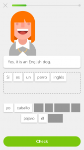 Duolingo English Dog