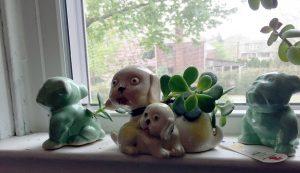 Vintage Dog Planters