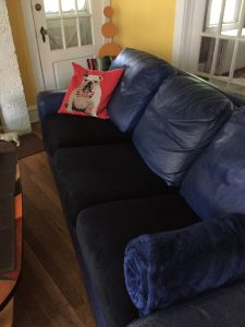 New cushions give life to an old couch